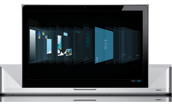PowerPoint-Präsentation bei der Anzeige im neuen Tool 'Objekt neu anordnen'