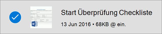 """OneDrive-Datei, die als """"Offline"""" gekennzeichnet ist"""