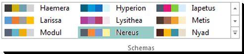 Auswahlgallery für Farbschemas