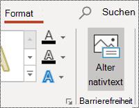 Schaltfläche ' AltText ' für eine Form in PowerPoint für Windows