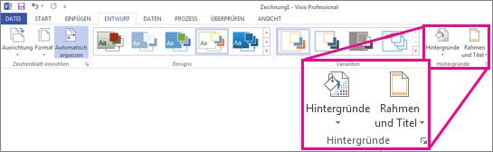 """Gruppe """"Hintergründe"""" in Visio"""