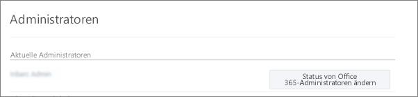 """Screenshot eines Kontos für """"Bestätigter Administrator"""", das in Office 365 als """"Globaler Administrator"""" synchronisiert wird"""
