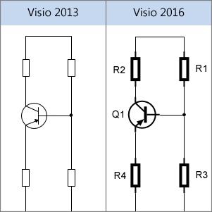 Elektroinstallations-Shapes in Visio 2013 und Visio 2016