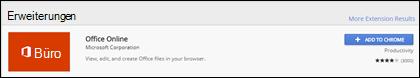Die offizielle Office Online-Erweiterung im Chrome Web Store