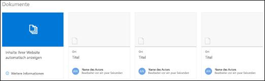 "Webpart ""SharePoint-Dokumente"""