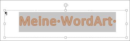 Ausgewähltes WordArt-Objekt