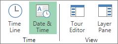 Schaltfläche 'Datum und Uhrzeit'