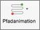 """Wählen Sie eine der Optionen für """"Animationspfad"""" aus, damit sich die Objekte auf definierte Weise bewegen"""