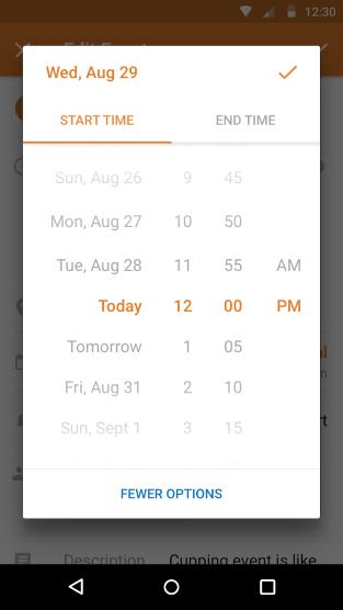 Zeitauswahl in Android