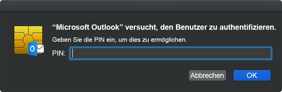 "Screenshot des Dialogfelds ""CryptoTokenKit"""