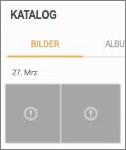 Eine verschlüsselte Bilddatei in der Katalog-App