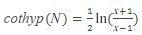 Formel für hyperbolischen Arkuskotangens