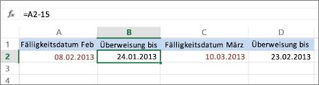 Berechnen von Datumswerten