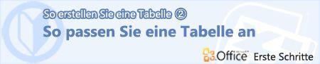 Create a table (2) Customize a table