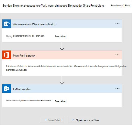 Folgen Sie den Anweisungen auf der Website Microsoft Flow illustrieren Verbindung