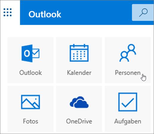 """Screenshot mit der ausgewählten Kachel """"Personen""""."""
