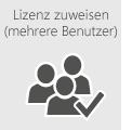 Weisen Sie Office 365-Lizenzen mehreren Benutzern gleichzeitig zu.