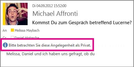 Beim Öffnen Ihrer E-Mail wird eine Nachricht mit der Datenschutzeinstellung angezeigt.