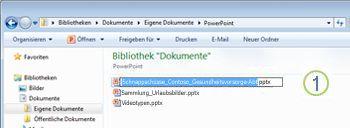 Mit der rechten Maustaste auf die Datei klicken und auf 'Umbenennen' klicken