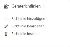 """Karte """"Geräterichtlinien"""" im Admin Center"""