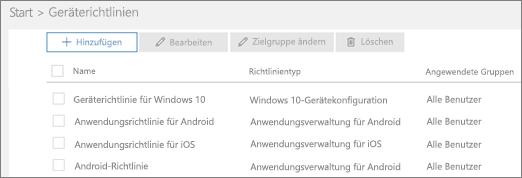 """Screenshot der Seite """"Richtlinien"""""""