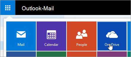 Ein Screenshot der OneDrive-Kachel in der App-Start.