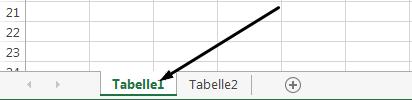 Die Excel-Arbeitsblattregister befinden sich am unteren Rand des Excel-Fensters.