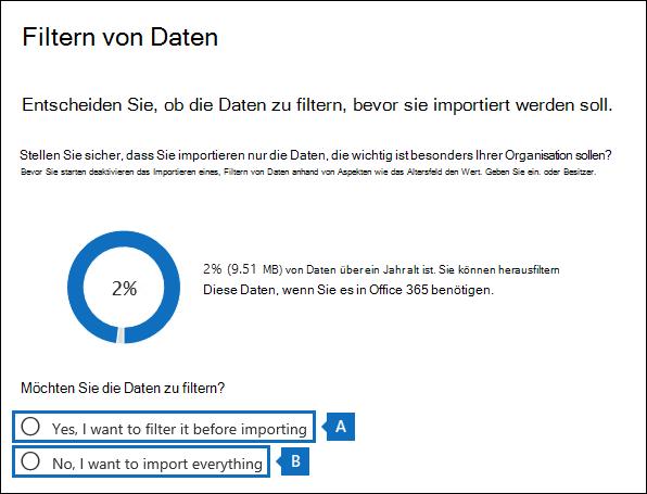 Sie können kürzen die Daten in der PST-Dateien oder importieren die gesamte