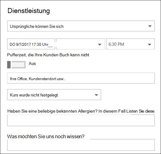 Bildschirmaufnahme: zeigt das geöffnete Kalenderelement an.