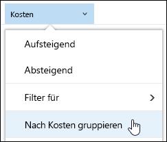 """""""Gruppieren nach""""-Ansicht der Dokumentbibliothek in Office 365"""