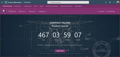 Screenshot einer Hub-Website