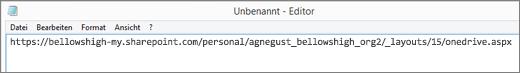 Fügen Sie die URL in ein Programm wie Editor ein.