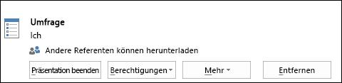 Screenshot vom Entfernen einer Umfrageseite
