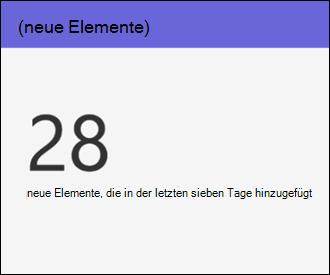 SharePoint Online-Websitenutzung – Neue Elemente