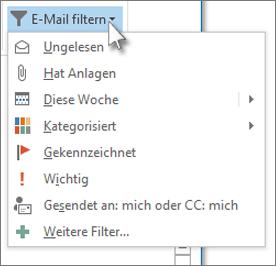 E-Mail filtern