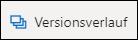 Die Schaltfläche ' Versionsverlauf ' im Menüband in OneDrive