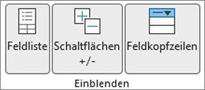 Abbildung der Excel-Multifunktionsleiste