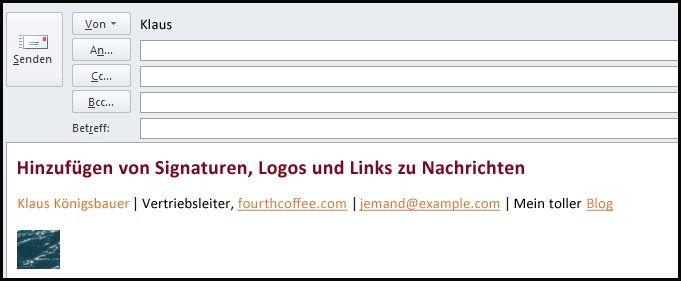 Elektronische Signatur in E-Mail-Nachrichten