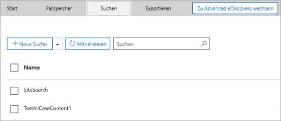 "Registerkarte ""Suchen"""