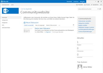 Community-Websitevorlage