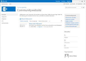 Community-Websitevorlage