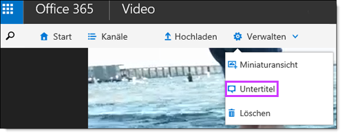 Office 365 Video, Untertitel