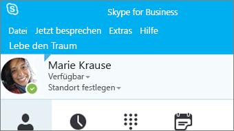 Erste Schritte mit Skype for Business 2016