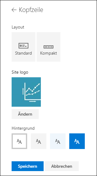 SharePoint-Website Kopfzeilen-Layouts