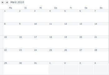 Eine Kalenderansicht