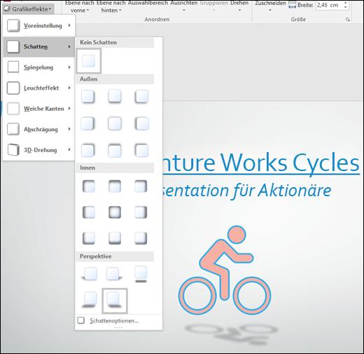 Hinzufügen von Effekten wie Schlagschatten zu SVG-Grafiken mit dem Tool Grafikeffekte