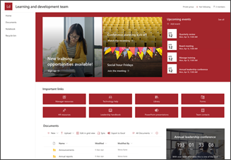 Abbildung der Vorlage für eine Entwicklungsteamwebsite