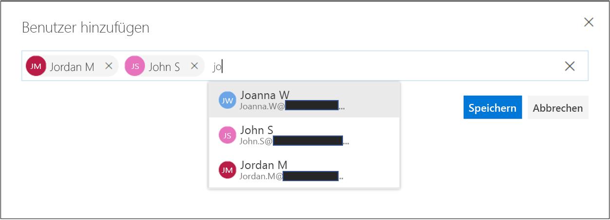 Compliance-Manager – Bereitstellungsrollen – Benutzer hinzufügen