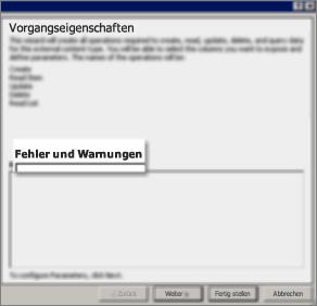 Screenshot des Dialogfelds 'Alle Vorgänge', das darstellt, dass Sie ausgewählt haben, alle für die Rechte 'Erstellen', 'Element lesen', 'Aktualisieren', 'Löschen' und 'Liste lesen' benötigten Eigenschaften zu erstellen.
