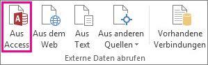 Schaltfläche 'Aus Access' auf der Registerkarte 'Daten'